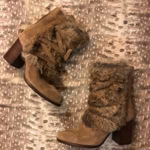 Softest Louise Et Cie Fur Boots with Heel
